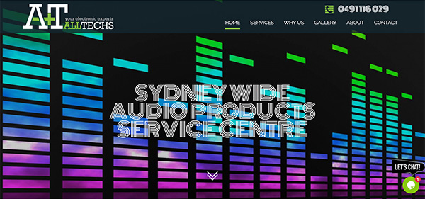 alltechse electronics website design and logo design and company profile by FOX DESIGN Sydney