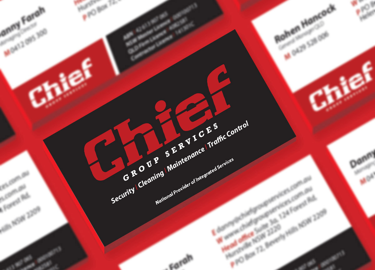 branding design for chief group services by FOX DESIGN