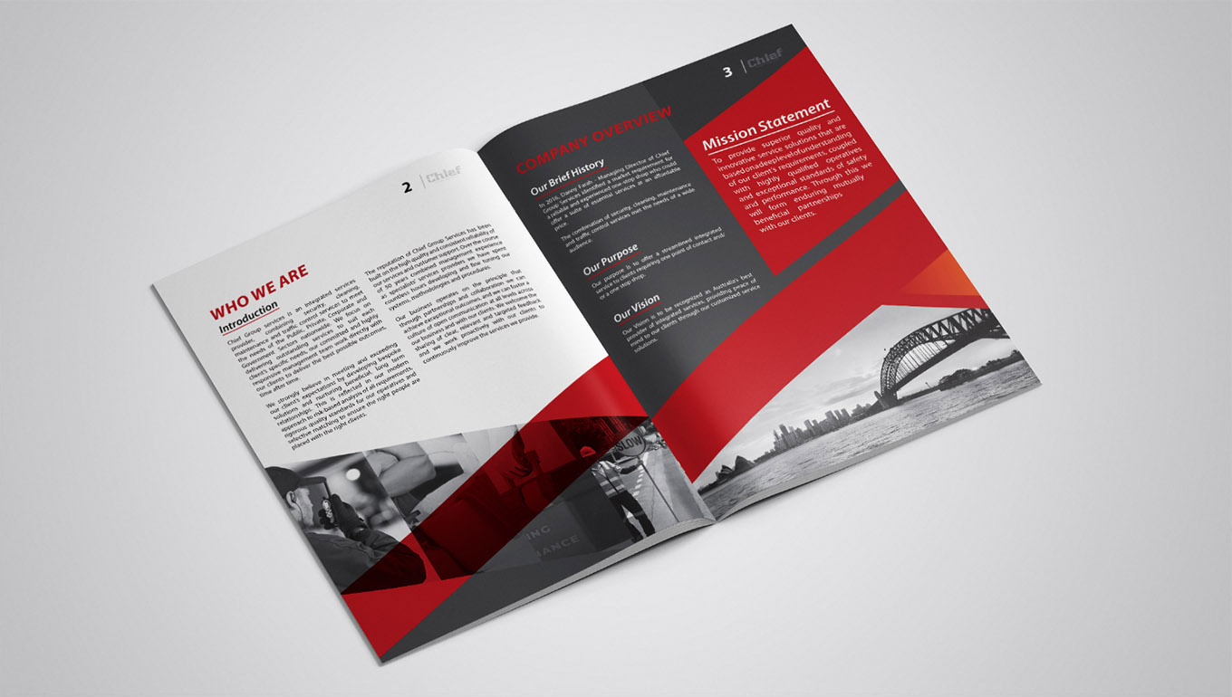 Sydney creative Company Profile design agency: FOX DESIGN