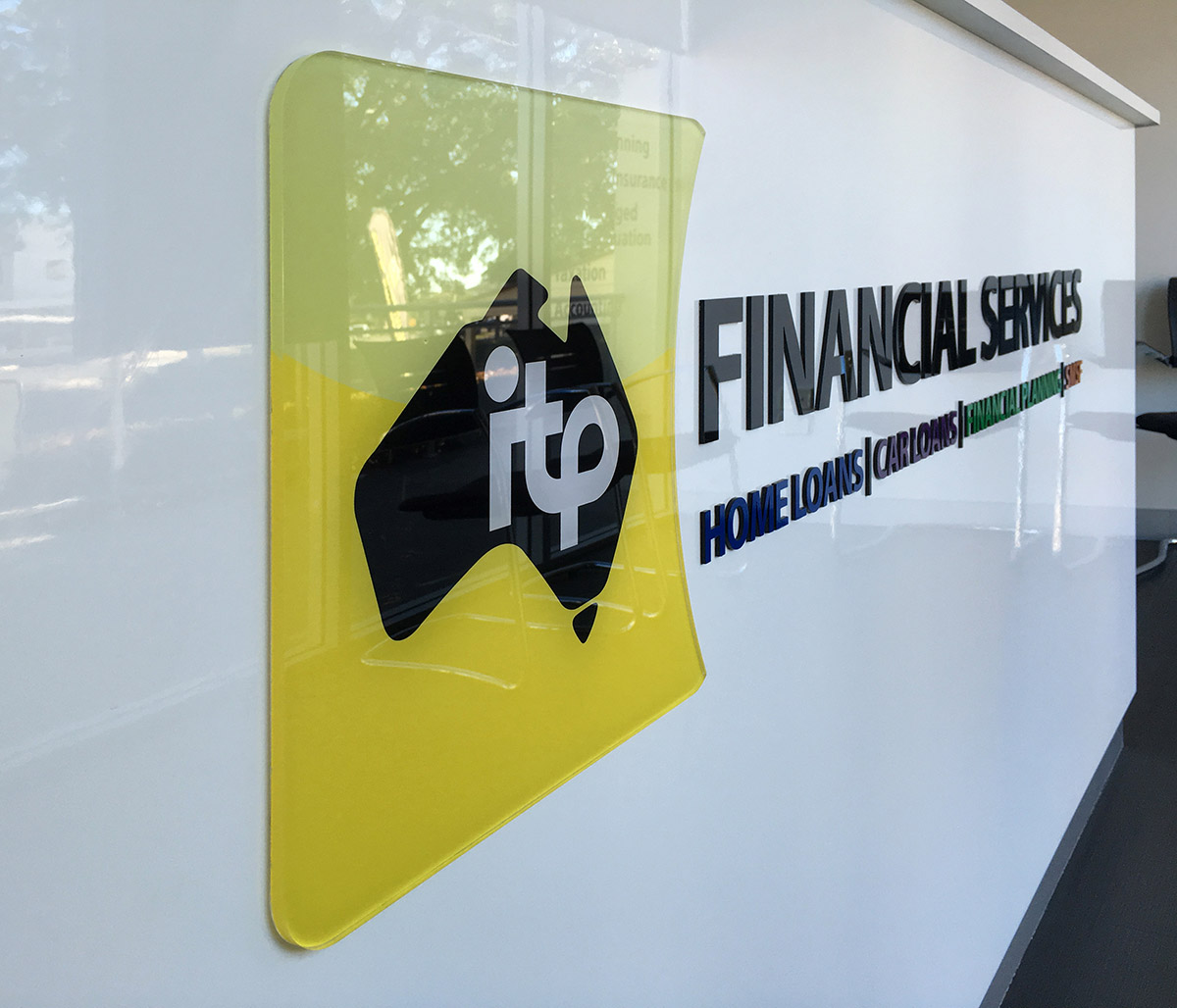 ITP office 3D logo signage design by FOX DESIGN