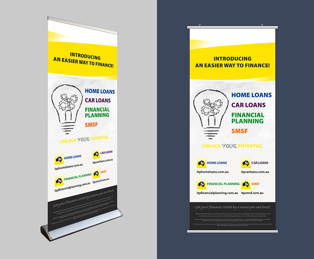 ITP Financial Services pull up banner & hanging banner design by FOX DESIGN