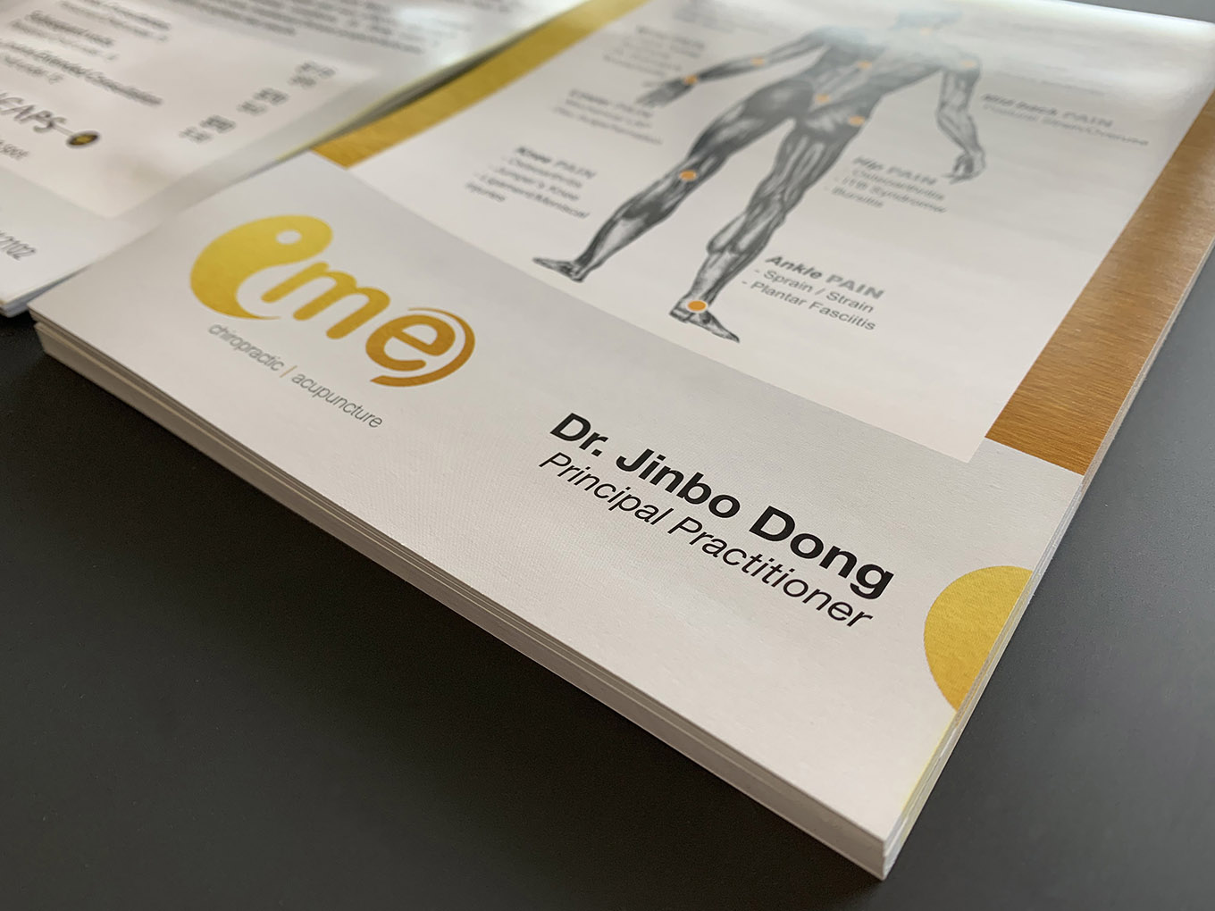 Creative Chiropractic clinic promotion design by FOX DESIGN