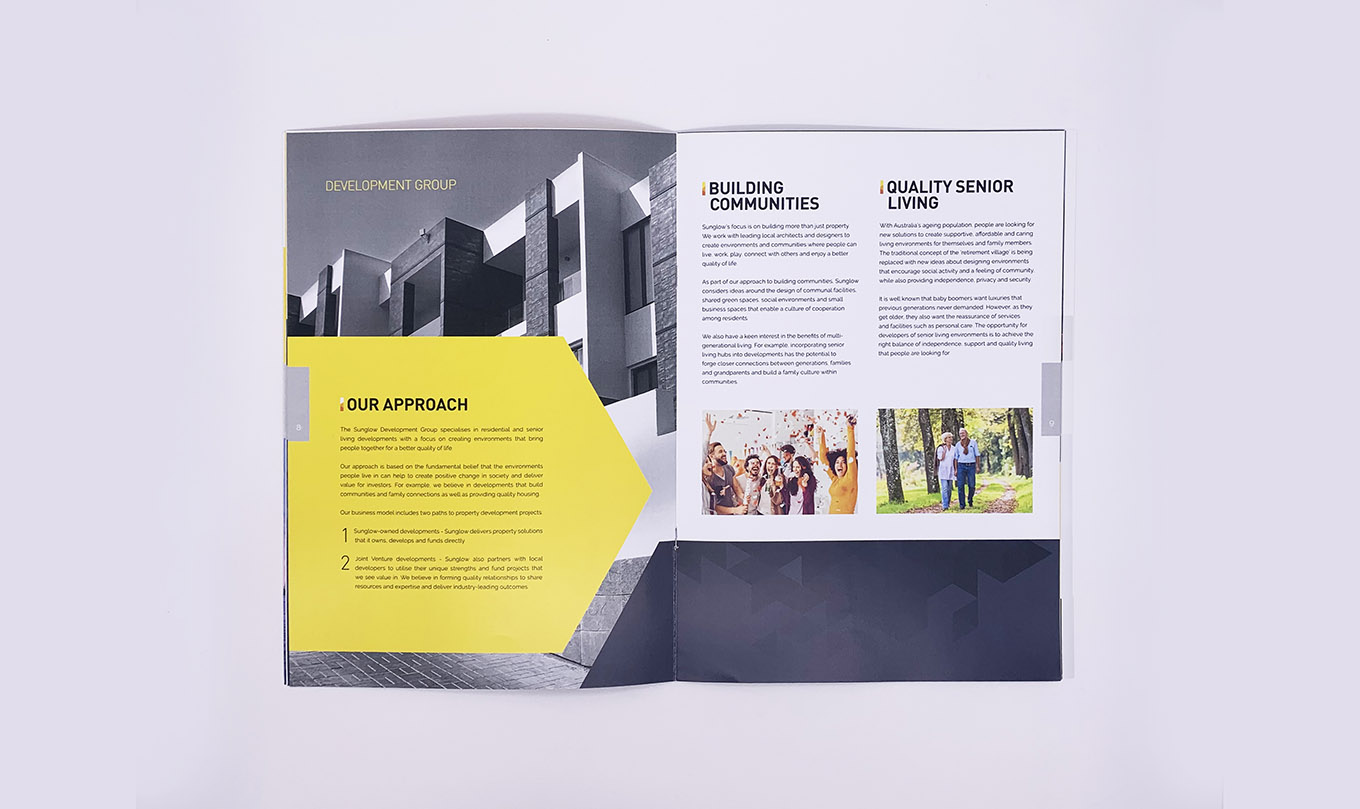 Sunglow Australia Company Profile design and print by FOX DESIGN